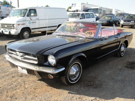 Black 65 Ford Pony Mustang 289 Convertible For Sale Cheap